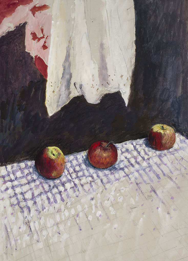 William ROBINSON 'Apples on a table' (detail) 1971