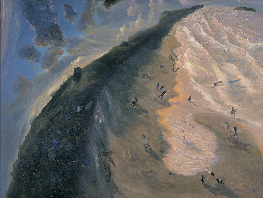 William ROBINSON 'Just before dark, Kingscliff' 1996. Oil on linen. Private collection, Sydney.