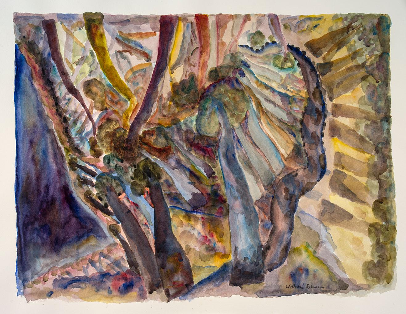 William ROBINSON 'Landscape 19' 1987, watercolour. Private collection, Brisbane.