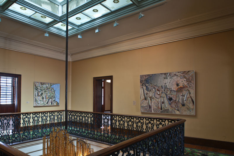 Installation view of 'William Robinson: A portrait of the artist' 2011-12