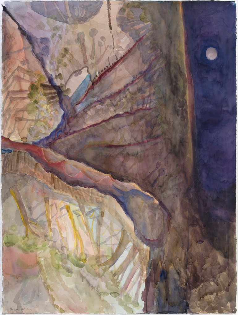 William ROBINSON 'Landscape 3' 1986, watercolour. Private collection, Brisbane.