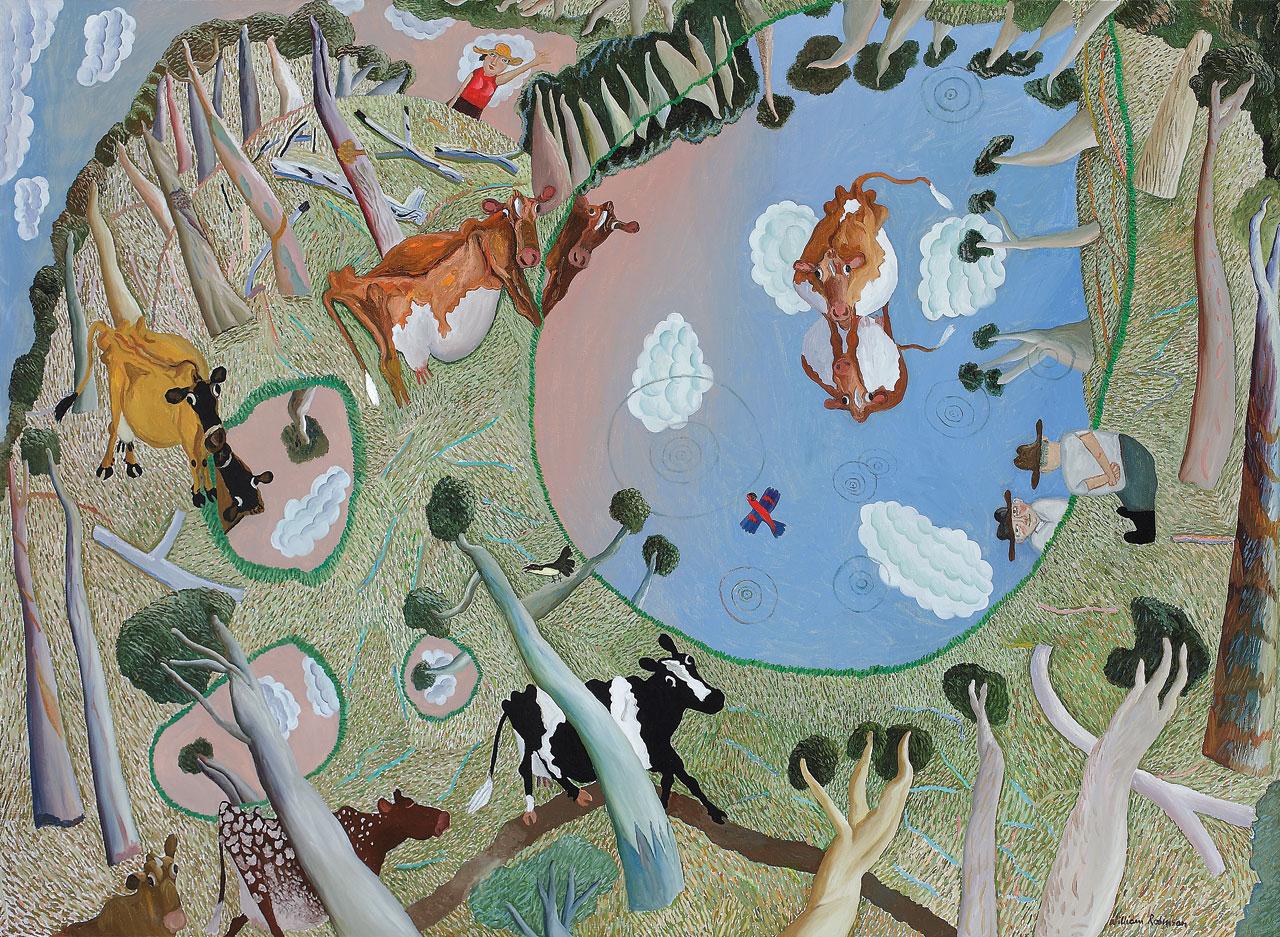William Robinson 'Puddle landscape' 1986