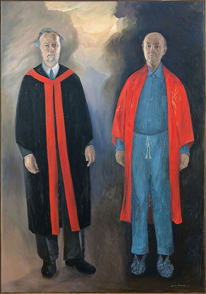 William ROBINSON 'Professor John Robinson and brother William' 1992. Oil on linen. QUT Art Collection. Donated through the Australian Government's Cultural Gifts Program by William Robinson, 2011.