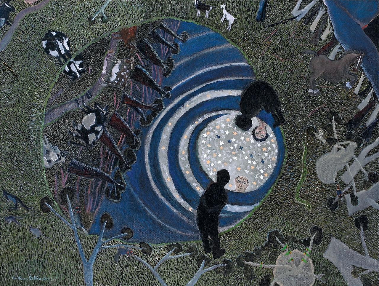 William Robinson 'Creation night, Beechmont' (study) 1988