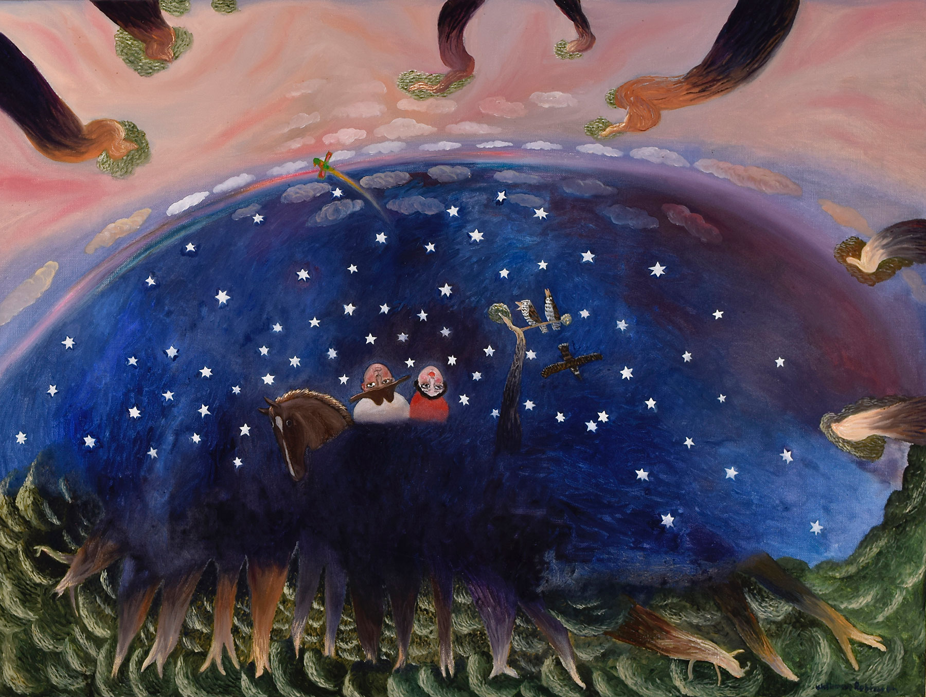 William ROBINSON, 'Out of the dawn' 1987, oil on linen. Collection of Martin and Jan Jorgensen, Brisbane.