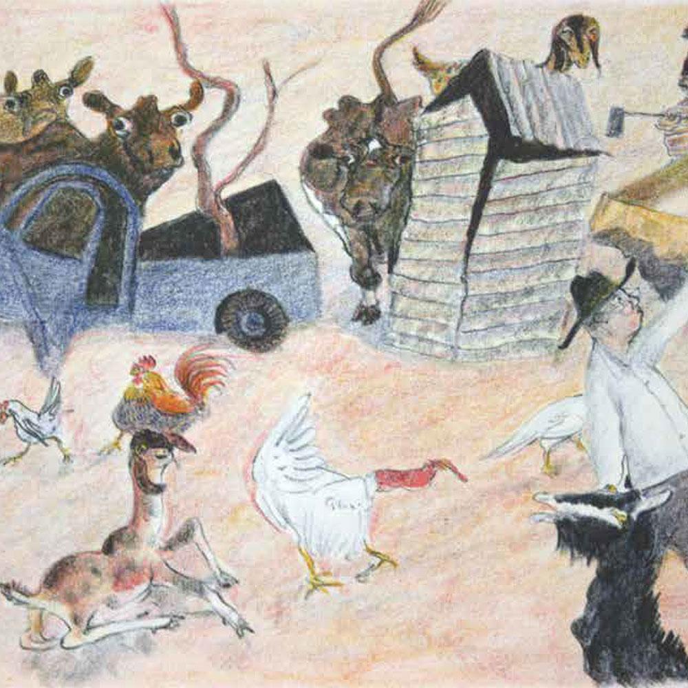 Wiliam Robinson farm colour sketch