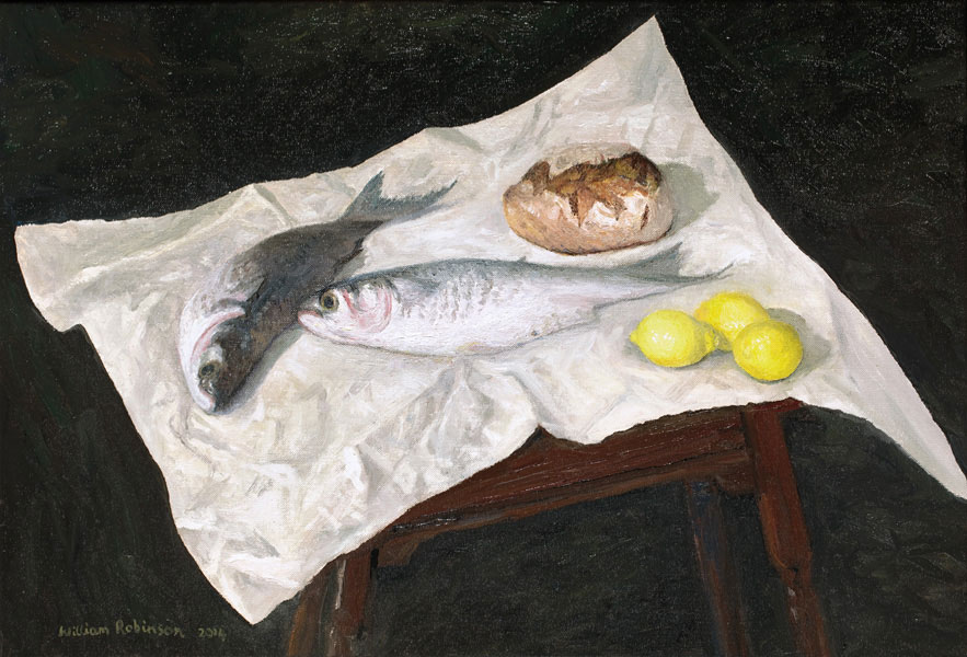 William ROBINSON 'Still life with stunned mullet' 2014