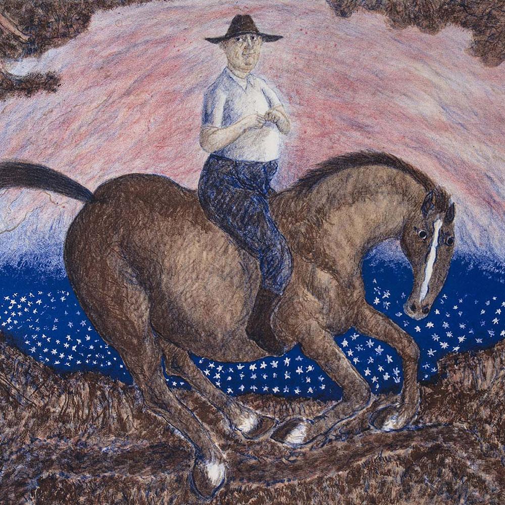 William Robinson drawn on a horse